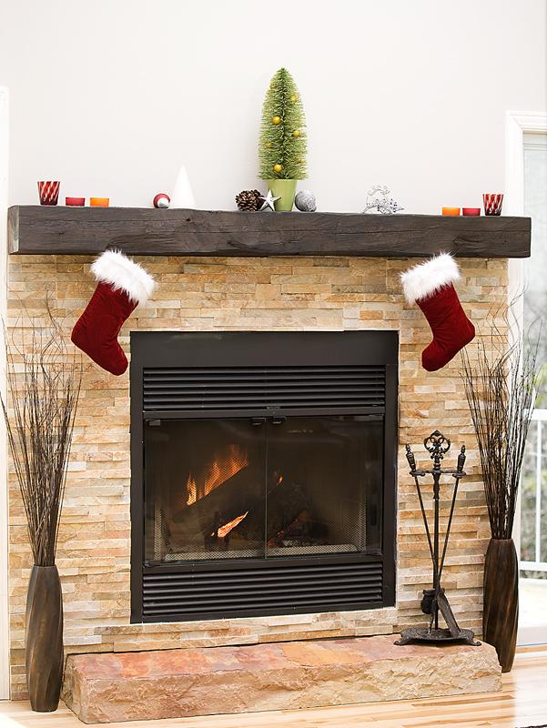 Christmas Fireplace Safe Home Decorating